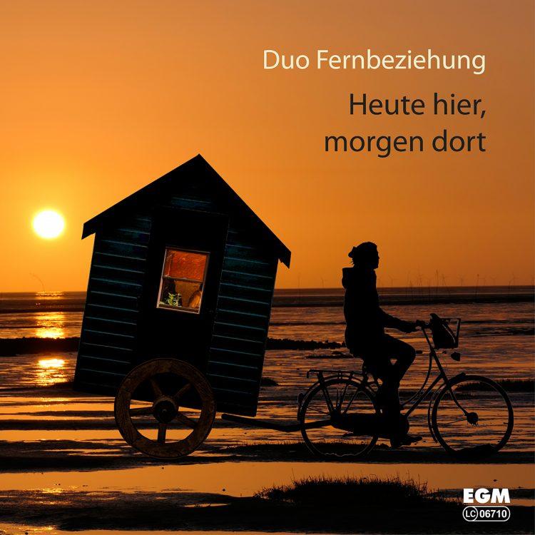 """Cover zur neuen CD von Duo Fernbeziehung - """"Heute hier morgen dort"""""""